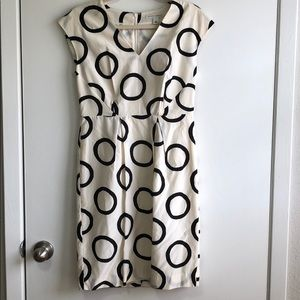 size 6 Banana Republic Business Casual Cream Dress